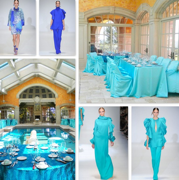 Runway to Tabletop ~ Turquoise Tablescapes‏