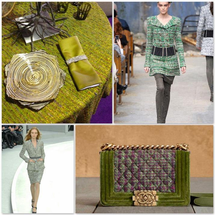 chanel green tweed