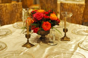 metallic tablesetting